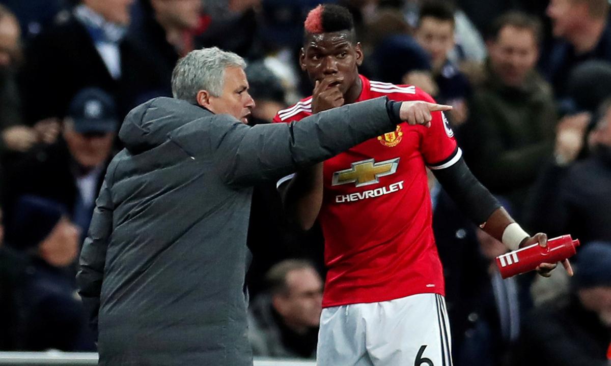 Trong hai năm rưỡi dẫn dắt Man Utd, Mourinho từng làm việc với nhiều cầu thủ được đánh giá là đẳng cấp thế giới như Pogba, Ibrahimovic, De Gea. Ảnh: Reuters.